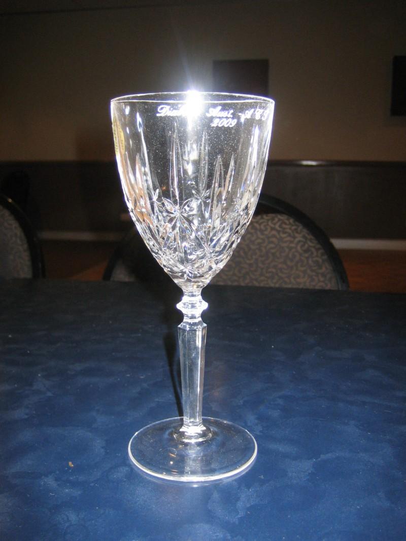 Diabetes engraved glass